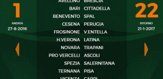 1^ Giornata Serie B 2016-17