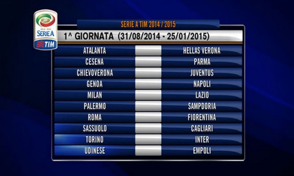 E Partita Ufficialmente La Serie A Ecco Il Calendario 2014 15 Calciobetter Com News Del Calcio Pronostici Scommesse Risultati Live Classifiche Probabili Formazioni