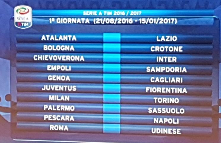 Calendario Serie A 2016-17