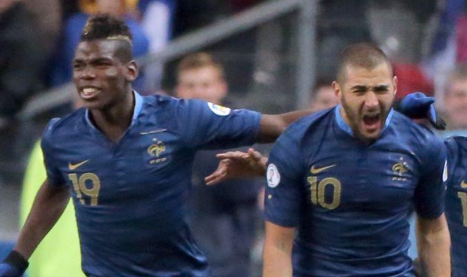 Doppio Benzema, la Francia vola: Pogba si procura il rigore