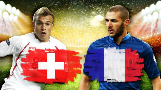 Gruppo E, Svizzera-Francia ore 21: Formazioni