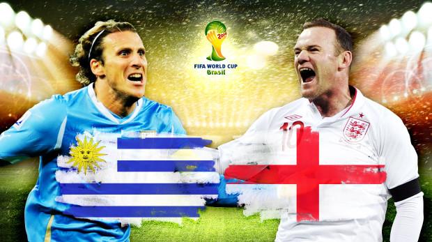 Gruppo D, Uruguay-Inghilterra: Chi perde va a casa