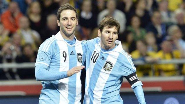 Higuain e Messi
