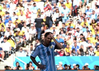 Lione Messi dopo il match Germania-Argentina
