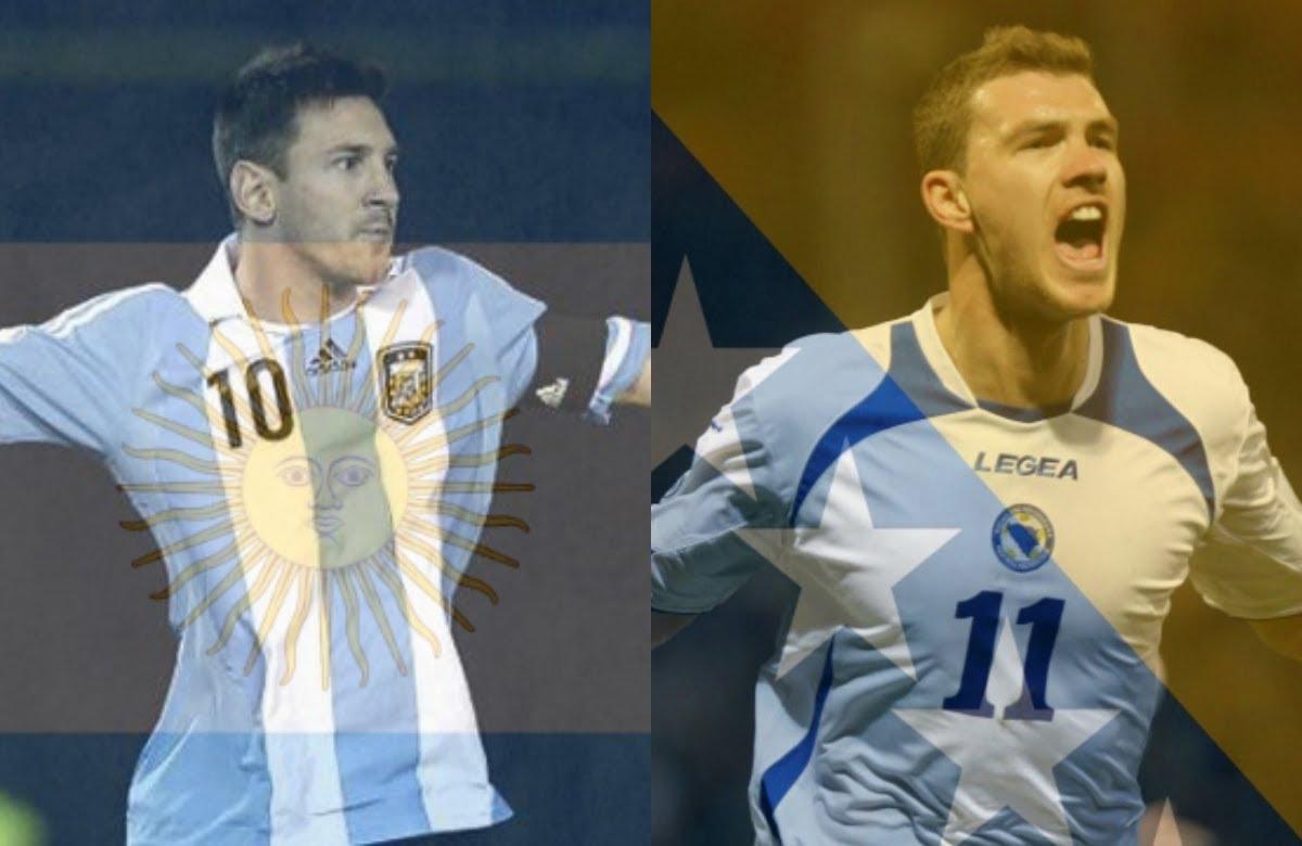 Mondiali Gruppo F, Argentina-Bosnia: Messi-Dzeko, Higuain out