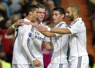 Ronaldo, Bale, James e Benzema