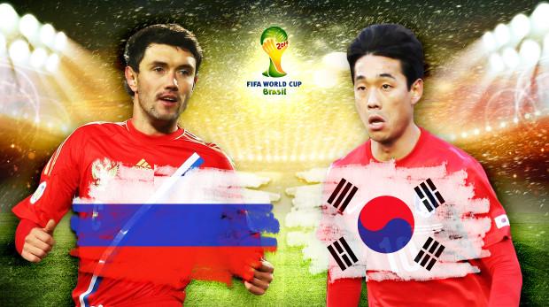 Russia-Corea del Sud, Gruppo H: Formazioni