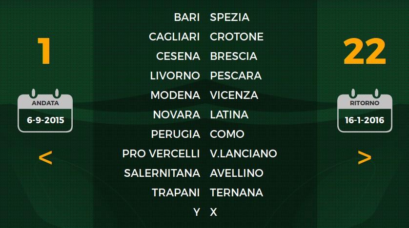 Serie B Calendario 2015-2016