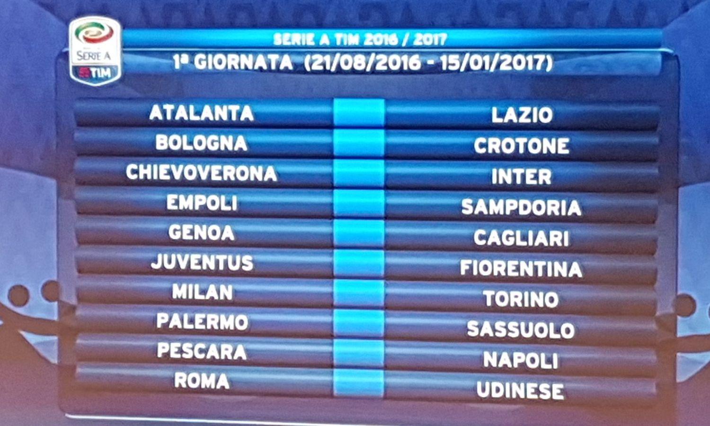 Calendario Serie A 1 Giornata.Parte La Serie A Big Match Dalla 1 Giornata Il Via Il 21