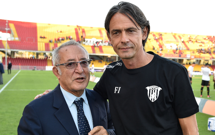 Il Presidente Vigorito e Inzaghi