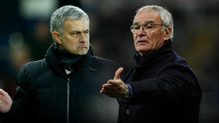 Josè Mourinho e Claudio Ranieri