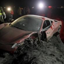 La Ferrari di Vidal dopo l'incidente