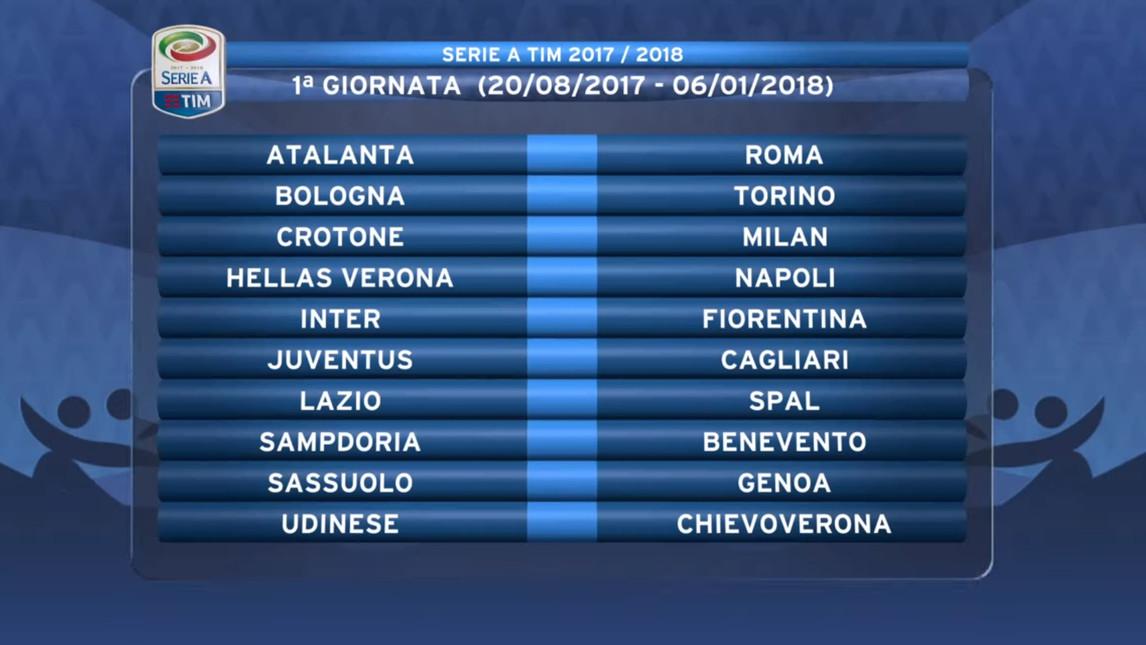 Benevento Calendario.Calendario Serie A 2017 18 Esordio Del Benevento In