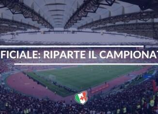 Ufficiale, Riparte il Campionato di Serie A